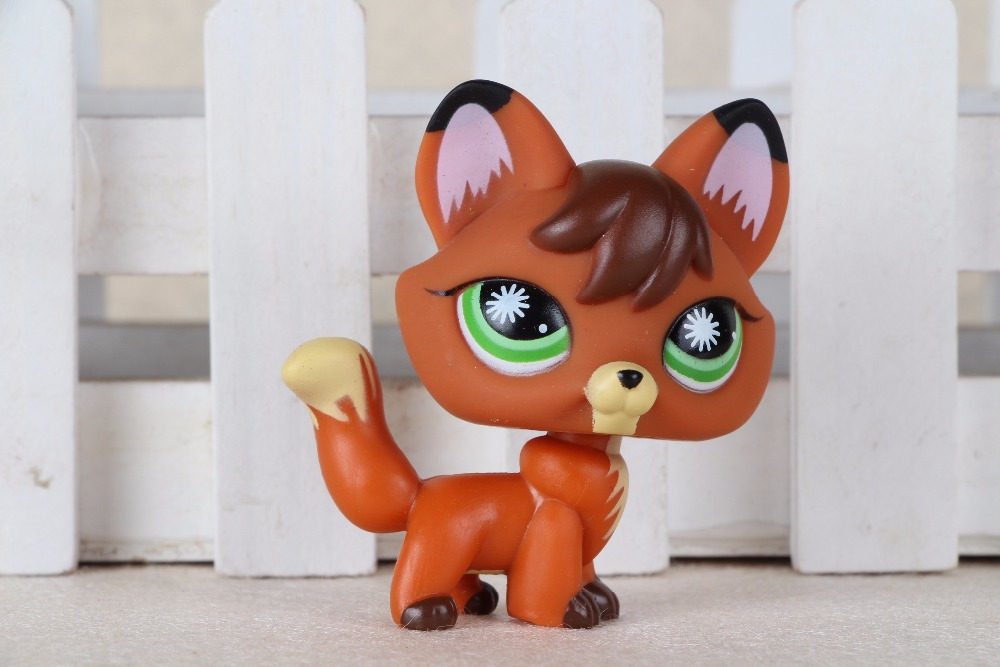 New pet Genuine Original LPS #807 Redish Brown Firefox Fox Dog Kids Toys 12pcs set children kids toys gift mini figures toys little pet animal cat dog lps action figures