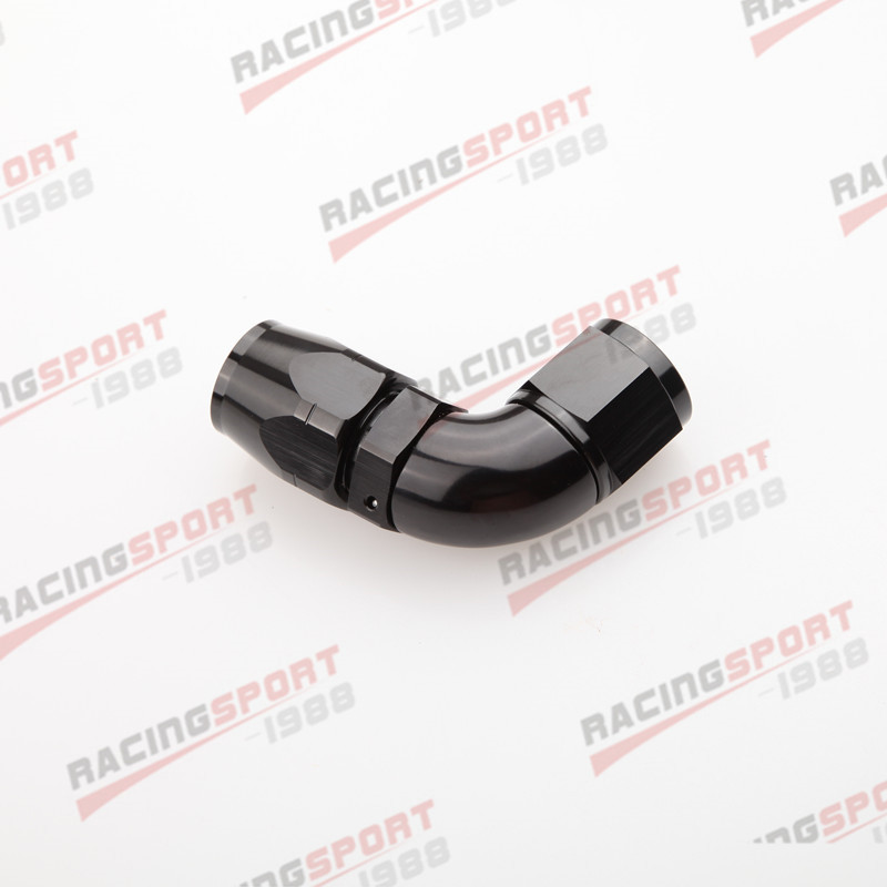 Поворотный 90 градусов-10AN AN10 10AN-10 A концевой фитинг для шланга Черный