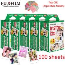FUJIFILM Fuji Instax Mini 8 фильм 100 листов instsnt фото + Бесплатный подарок фото Наклейки для мини 8 7 s 25 50 s 90 Фотоаппарат моментальной печати Бумага