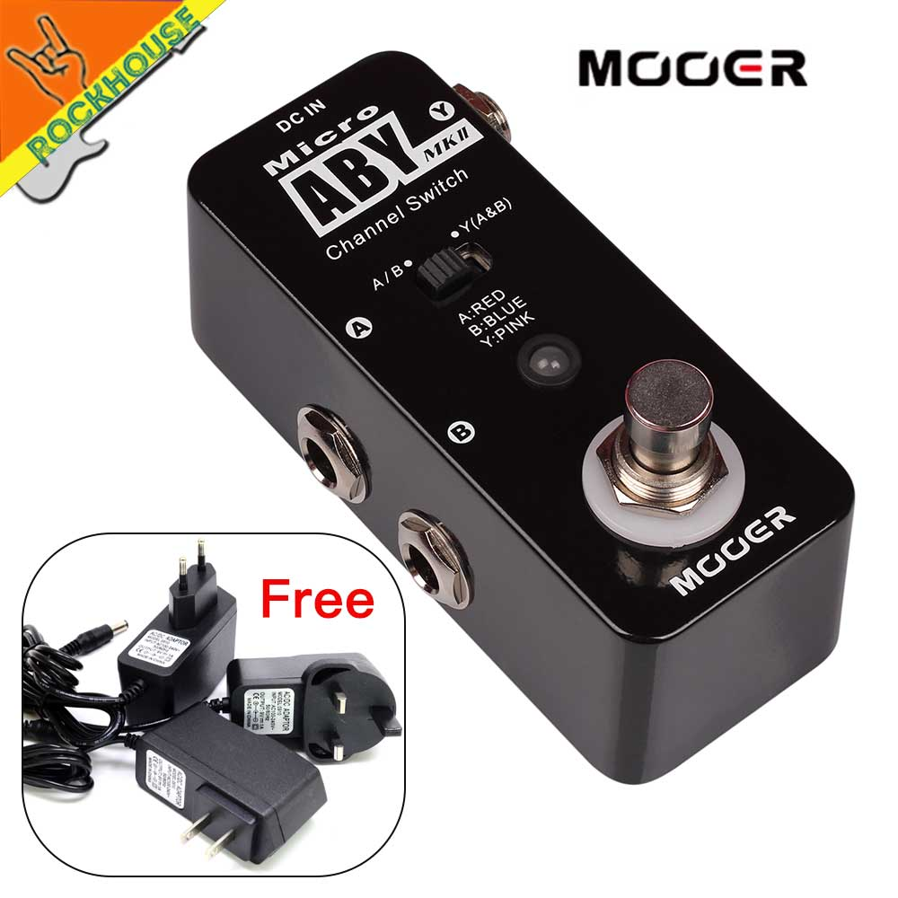 MOOER Micro ABY MK2 Guitar Line Selector Pedal Amplifier Channel Switch Guitar Signal Diverter True Bypass Free Shipping new mooer micro aby channel switch effects pedal true bypass electric guitar effectors free shipping