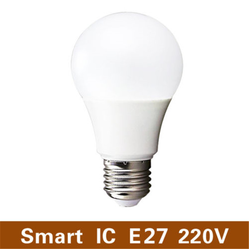 1pcs LED Bulb Lamps E27 220V Light Bulb Smart IC Real Power 3W 5W 7W 9W 12W 15W High Brightness Lampada LED Bombillas SMD2835