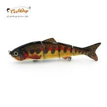 Новый продукт рыболовная приманка 4 Сегмент Swimbait Crankbait тяжелая приманка медленная 35 г 15 см рыболовный крючок Рыболовные снасти FL4-LM05