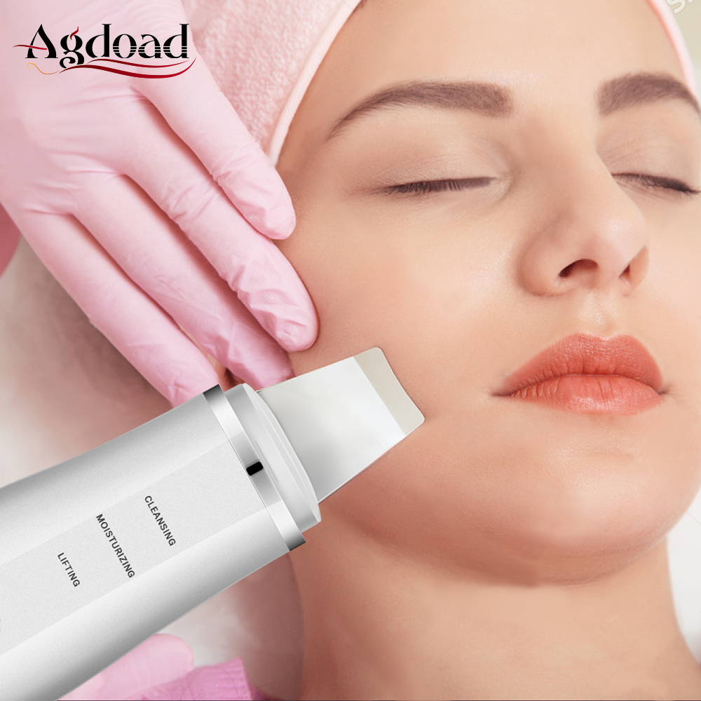 Ultrasonic Ion Skin Scrubber Facial Deep Cleaning Face Cleansing Moisturizing Lifting Peeling Machine Beauty Equipment