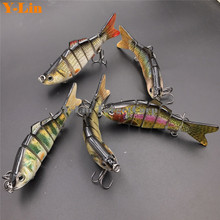 1 pcs 10cm 20g Fishing Wobblers 6 Segments 3D EYE Lifelike hard lure Swimbait Crankbait Fishing Lure Bait with Artificial Hooks