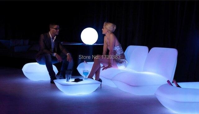 Oplaadbare vondom kussen lounge stoel led lichtgevende meubels