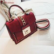 Bolsos de marca para mujer, bolso de lujo pequeño, bandolera para mujer, 2019, bolso de cuero de alta calidad, bolso de mano rojo para mujer