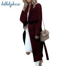 Winter Coat Women Black Plus Size Long Sleeve Irregular Windbreaker 2018 Autumn New Europe America Casual Loose Coats CX600