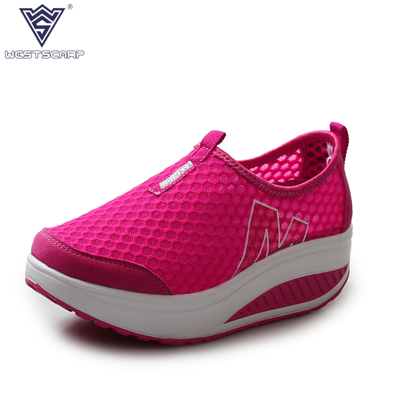 Height Increasing Summer Shoes Womens Causal Shoes Fashion Air Mesh Footwear for Women Swing Wedges Shoes Size 35-40