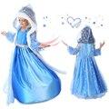 2016 meninas vestido de Verão Crianças Meninas Vestido da menina Elsa Anna Vestido de Princesa cosplay Vestidos de Festa Roupa Dos Miúdos Do Bebê meninas roupas