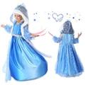 2016 niñas vestido de Verano Muchachas de Los Cabritos del Vestido de la Muchacha Elsa Anna Vestido cosplay Princesa Vestidos de Partido Del Bebé Ropa niña ropa