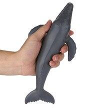 Новые Мягкие Мультяшные игрушки для ванной моделирование горбатого кита нарастающее при сжатии игрушка для снятия стресса игрушки высокого качества Прямая
