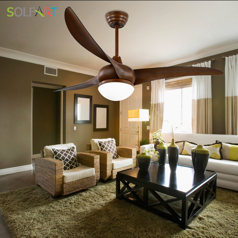 Solfart ceiling fan simple restaurant ceiling fan lighting modern solfart ceiling fan simple restaurant ceiling fan lighting modern wood ceiling fan with light with remote control slf8810 in ceiling fans from lights mozeypictures Images