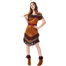 New Arrival Native Indian Archer Costume Cosplay For Women Adult Halloween Carnival Party Suit