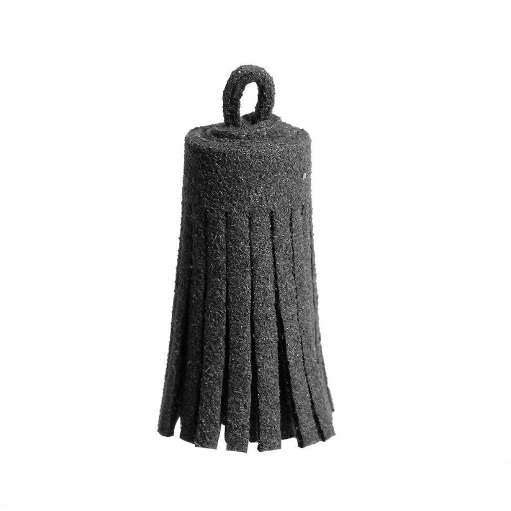 Dark gray curtains - Doreenbeads Wholesale Dark Gray Korean Velvet Suede Tassel Pendants For Cellphone Curtain Garment Jewelry Making 35mm