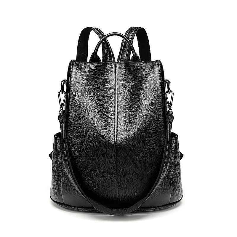 2019 женские кожаные рюкзаки, женские дорожные сумки, женские сумки, школьные рюкзаки для девочек, консервативный стиль, большая емкость, C643