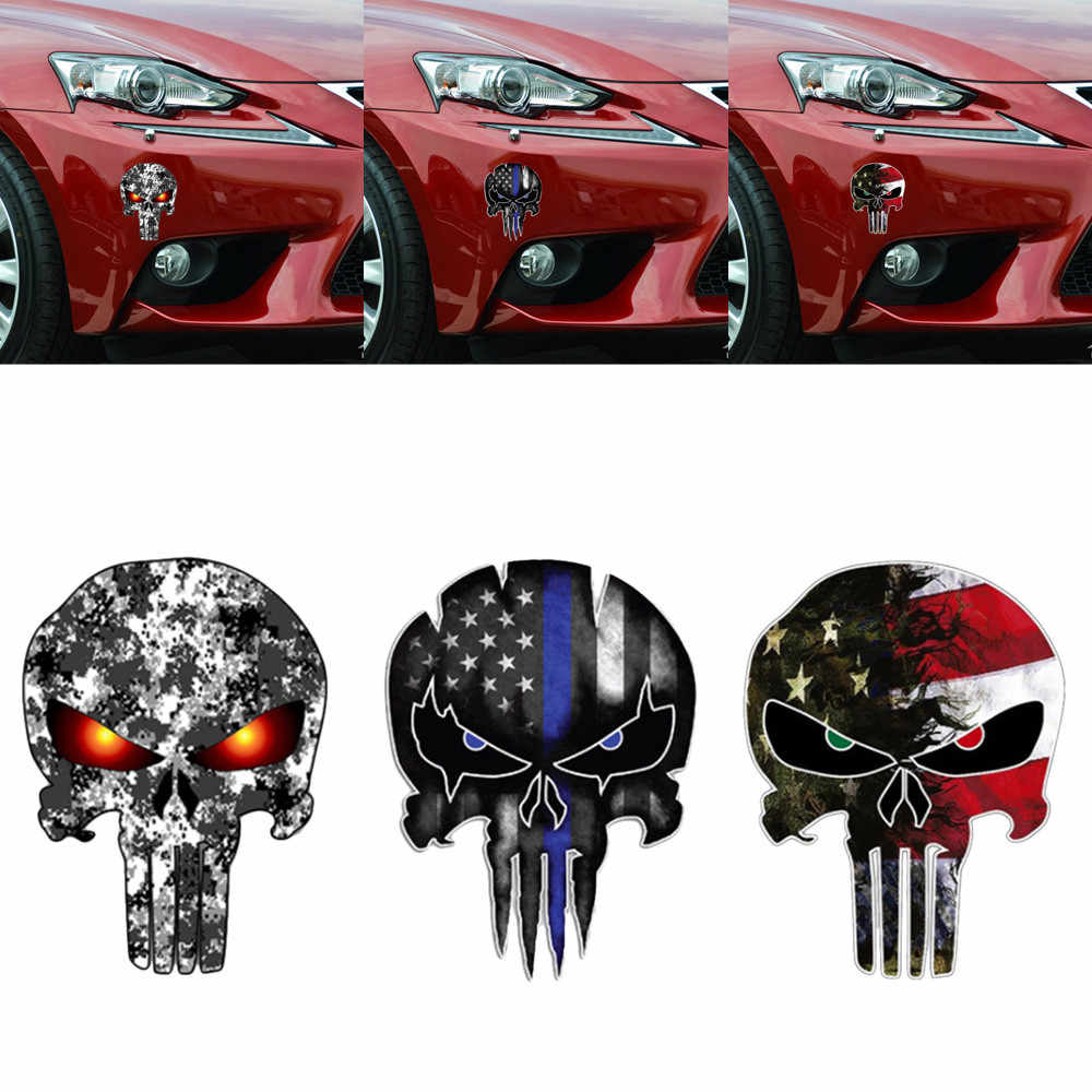Car Stickers Halloween Wall Home Skull Vinyl Sticker Mural Decor Decal Removable Terror Auto Car Styling 2019