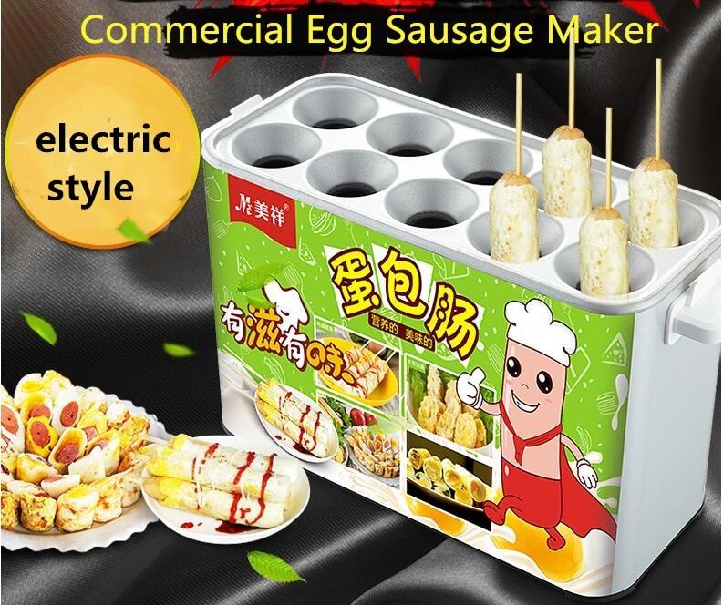 2017 JINKELI Commercial Egg Sausage Maker Hot dogs Machine Baked Ham Machine Eggs Roll Sausage Machine Omelet Maker made in china commercial egg sausage machine electric home use egg hot dog omelet waffle machine