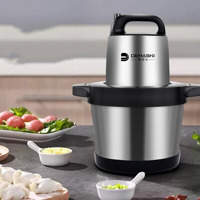 Для домашнего и коммерческого использования Мясорубка блендер из нержавеющей стали давилка для чеснока 6 литров JR 06 кухонная техника электрическая мясорубка