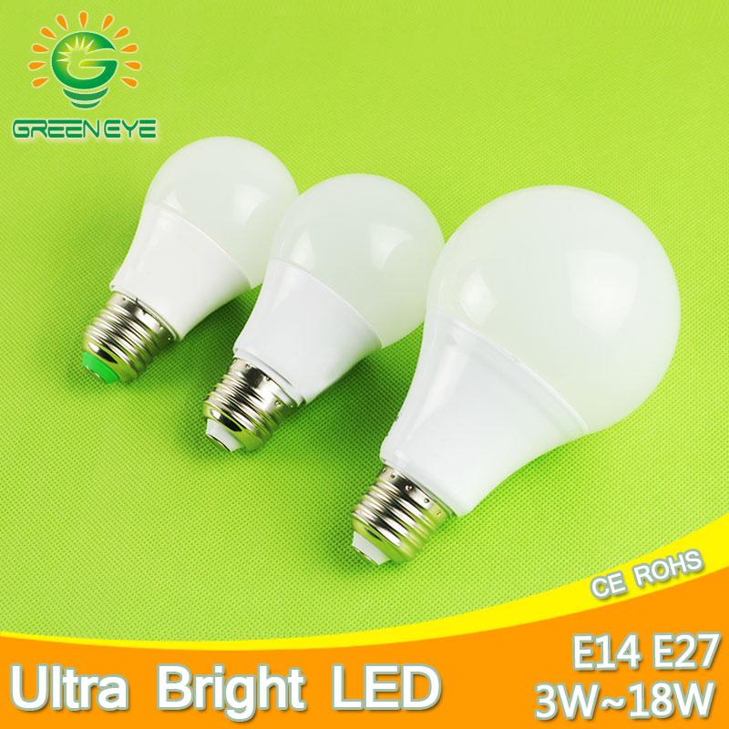 Ultra Bright Smart IC Real Power Aluminum Cooling LED Bulb Lamps E27 E14 220V Light Bulb 3W 5W 7W 9W 12W 15W Lampada Bombillas led bulb e27 3w 5w 7w 9w 12w 15w real power 220v energy saving led lamp aluminium 2835smd led spotlight bulb smart ic no flicker
