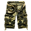 Free shipping summer 2017 men's fashion casual loose cotton pants camouflage pants, men's large size multi-pocket overalls