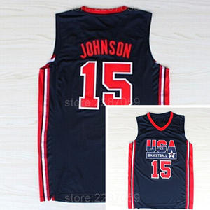 2b30a474aa51 Ediwallen 1992 USA Dream Team One Jersey White Navy Blue Embroidery Discount