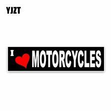 Светоотражающая наклейка YJZT «я люблю мотоциклы», 15*3,5 см