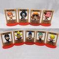 Para la colección 9 Estilos Wanted Dead or Alive One Piece figura de anime Luffy Zoro Nami Robin Modelo de Juguete de Regalo lleno conjunto