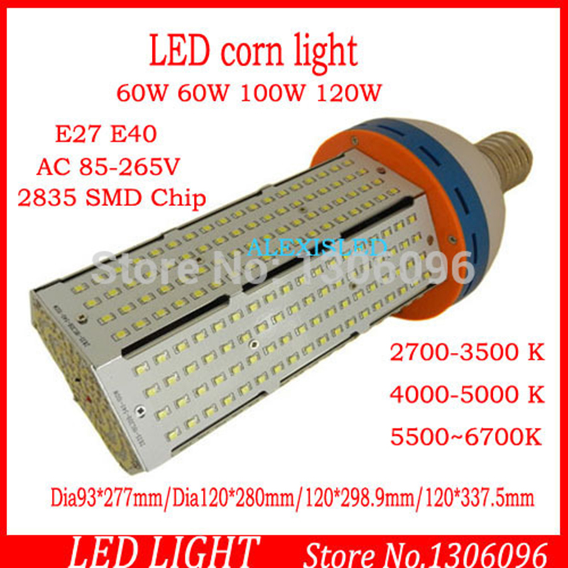 5pcs/lot 360degree LED Corn Light 60w E40/E27 led bulb lamp 6500lm 85-265v CE&ROSH aluminum led flood light toika 2pcs lot 80w100w120w e27 base aluminum corn light high power led bulb outdoor smd5730 waterproof using