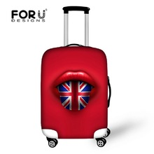 Fashion Red Travel Luggage Cover Waterproof Spandex UK Flag Print Suitcase Cover to 18-30inch Luggage Set Travel Accessories