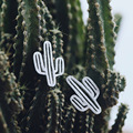 2017 Spring Special Cactus Stud Earrings Cute Funny Silver Gifts for Women