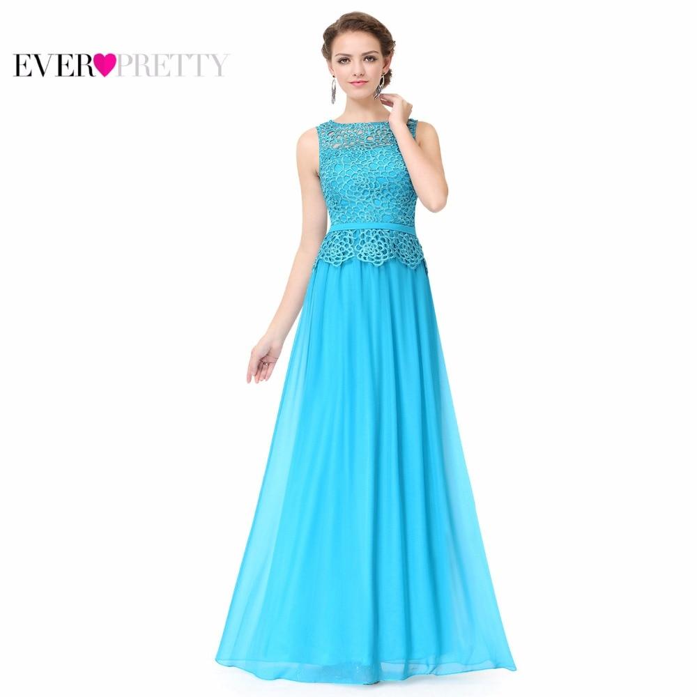 O-neck Sleeveless   Prom     Dresses   Ever Pretty HE08904 A-line Plus Size   Prom     Dress   Women's Elegant   Prom     Dresses