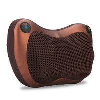 Massage Pillow Massager Cushion + EU Plug Power Adapter Soft Built in Heat Knead 8 Rollers Improve Blood Circulation Re oxygen