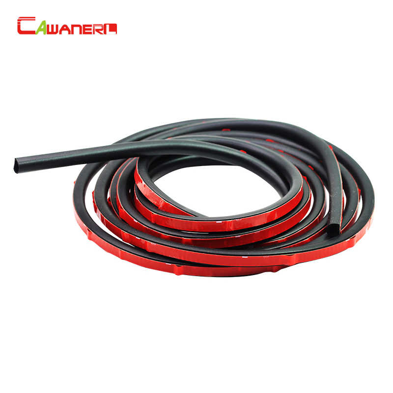 Cawanerl 2 Meter Small-D Auto Hood Door Rubber Seal Strip Weatherstrip Sound Insulation 200CM Car Sealing Strip Edge Trim