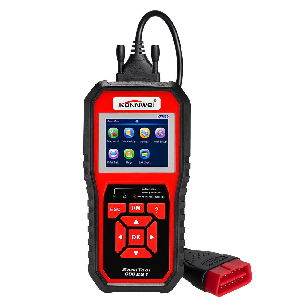 KW850 Universal OBD Scanner Auto Diagnostic Scanner Full Function Car Diagnosic Car Scanner Engine Code Reader Multi-languages цена