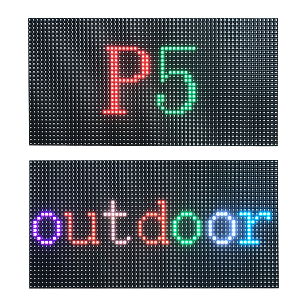 P5 Outdoor Led Display Panel Waterproof Full Color Screen Board Outdoor Led Display Module Smd2727 320*160mm 64*32 Dots
