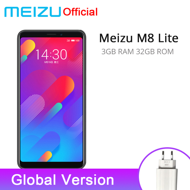 Official Global Version Meizu M8 lite 3GB 32GB V8 Lite 4G LTE Mobile Phone Quad Core 5.7'' 3200mAh Rear 13.0MP Fingerprint ID