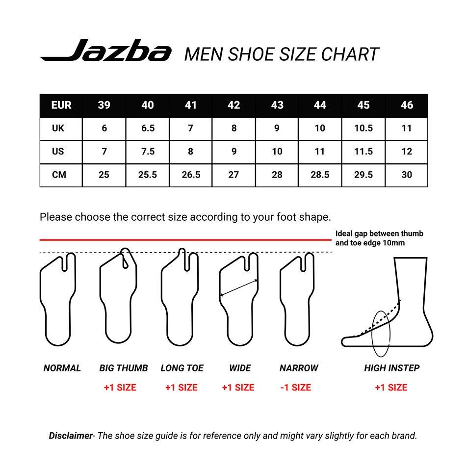 Jazba New Man Size Chart
