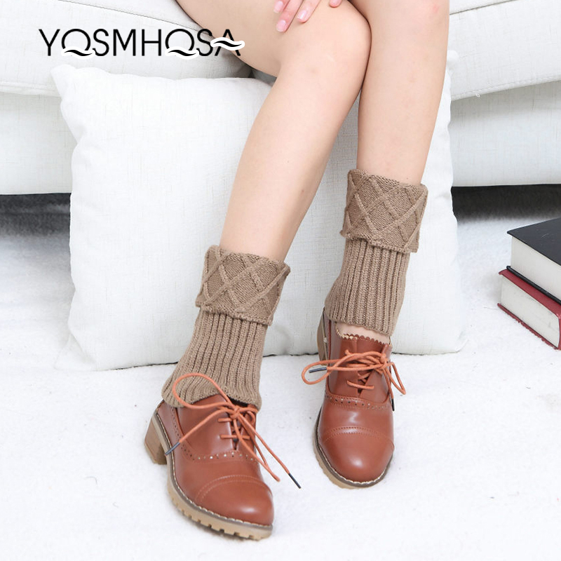 Solid Stockings Women's Thigh High Socks Polyester Knitted Winter Warm Sock Long Socks Women White Thigh Socks WK009