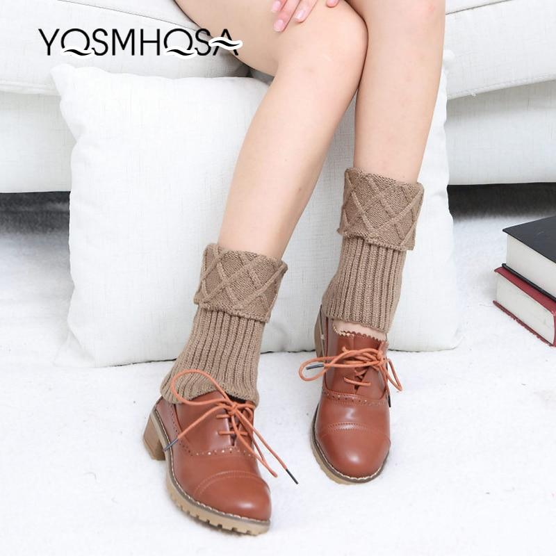 Solid Stockings Women's Thigh High Socks Polyester Knitted Winter Warm Sock Long Socks Women White Thigh Socks WK009