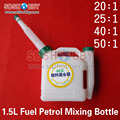 2 Stroke Fuel Petrol Mixing Bottle 1.5L Fuel Tank Ratio 1:20 1:50 Proboscis Fuel Tank for Gasoline Aircraft