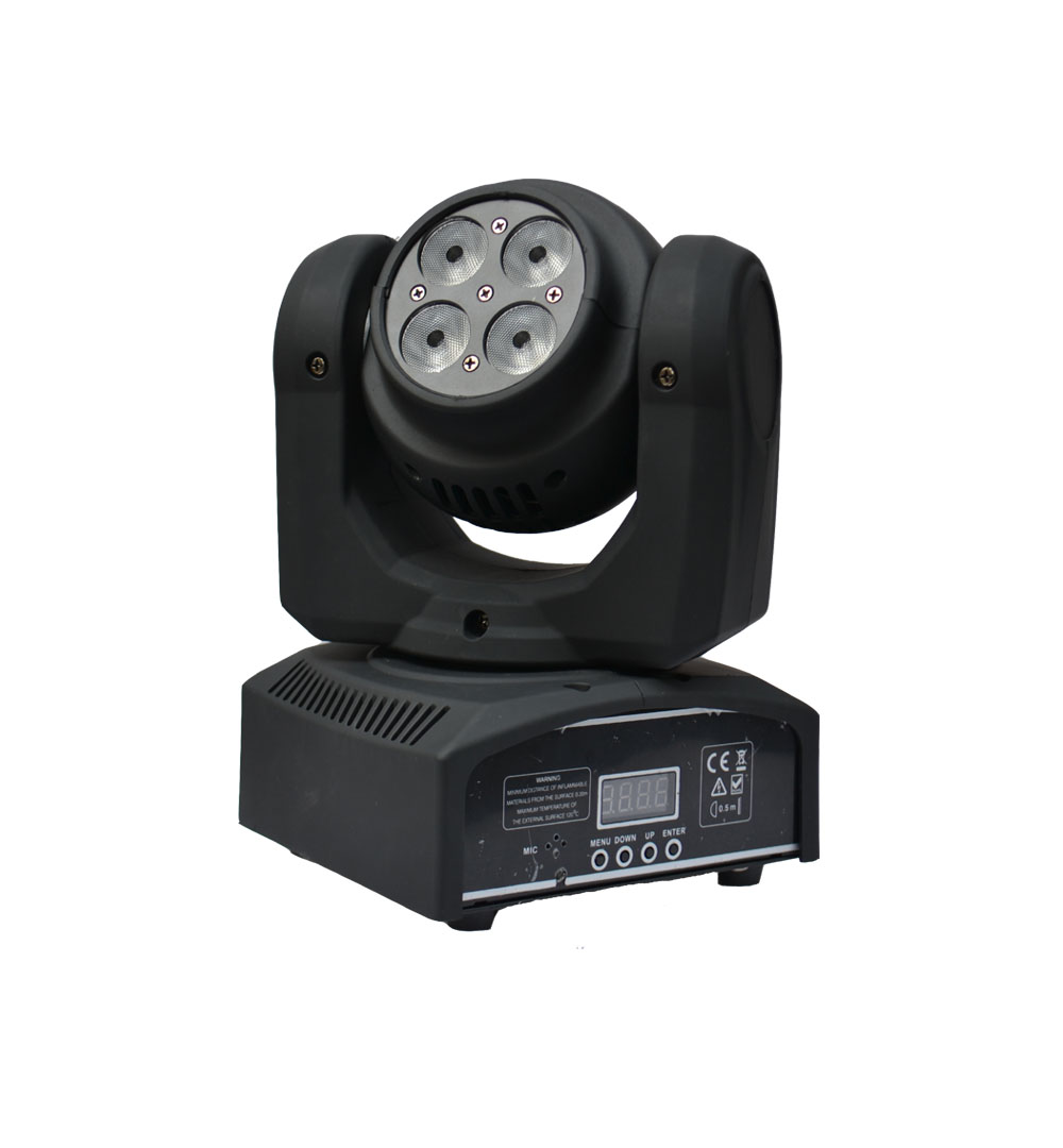4pcs/lot cheap dj lihgts 4pcs*10W 4 in 1 RGBW led beam moving head light double side face led wash light