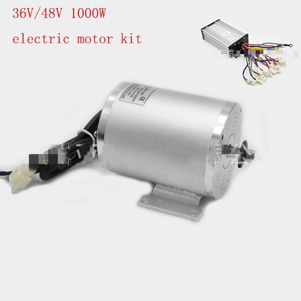 E-scooter moteur kit 1000 w 36 v 48 v Brushless DC Moteur électrique avec contrôleur pour e- scooter/vélo électrique/tricycle/ebike