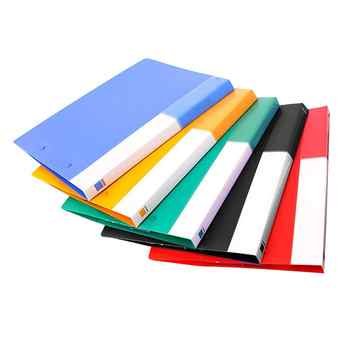 MyLifeUNIT Colorful Commercial File Folders Plastic Pocket Folder Colored File Folder with Double Strong Clips Office Supplies