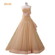 abule Wedding Dresses Ball gown princess lace up strapless Chiffon Bridal Gowns vestidos de novia 2017 customize plus size