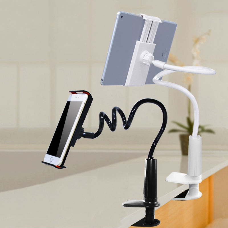 Universal 360 Rotating Tablet Phone Holder Stand Lazy Stands Clip Bracket Flexible Phone Support For iPhone iPad Desk Mount Bed