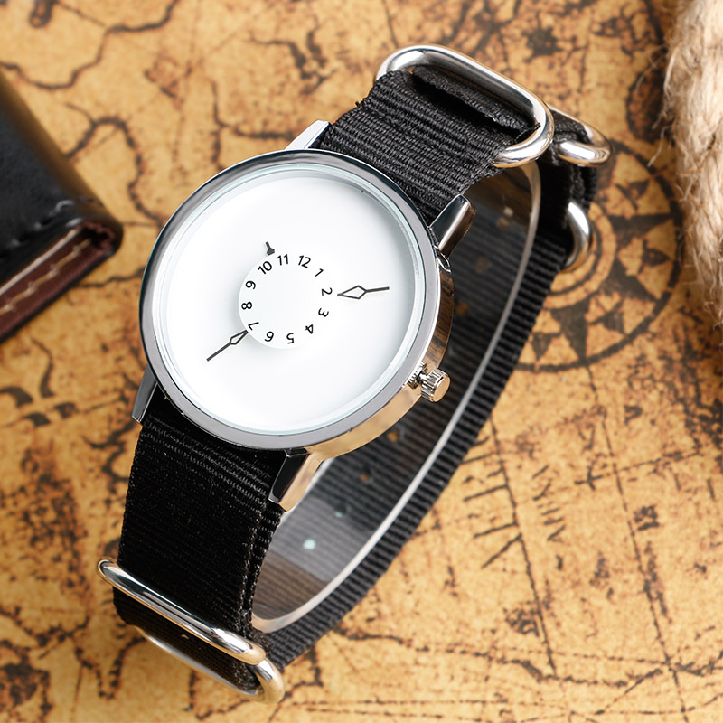 2016 Hot Selling PAIDU Quartz-watch Special Fabric Nylon Wrist Watch Men Women Simple Elegant Unqiue Turntable Clock adjustable wrist and forearm splint external fixed support wrist brace fixing orthosisfit for men and women