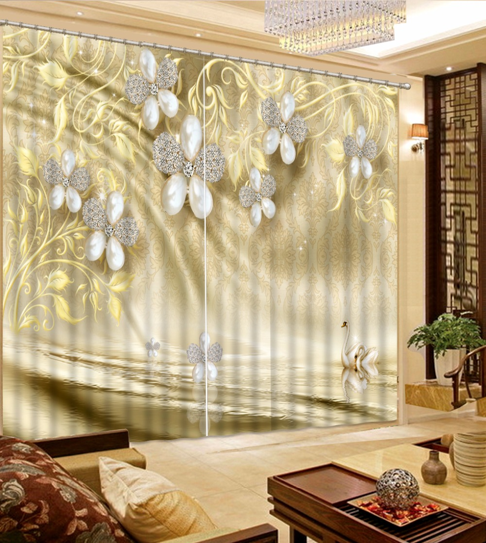 extraordinary cafe curtain living room   Custom Pattern Curtains For Living room Bedroom 3D Window ...