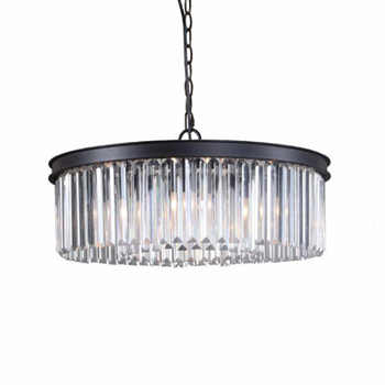 Round Shape Crystal Chandelier Lighting Luminaires Hanging Light for Restaurant Crystal American Style Lamp - DISCOUNT ITEM  22 OFF Lights & Lighting