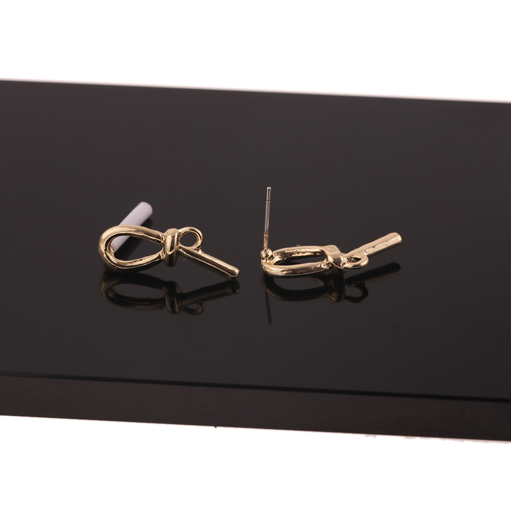 Cordial Design 100Pcs 8*23MM Jewelry Accessories/Earrings Stud/Tie Knot Shape/DIY/Earrings Making/Hand Made/Earring Findings