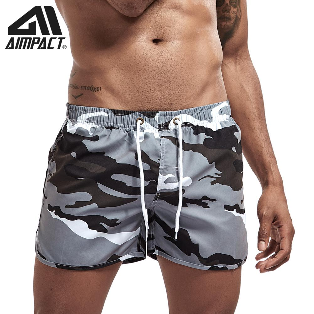 Aimpact Fast Dry Beach Shorts For Men Sexy Holiday Swimming Surf Board Shorts Male Swim Trunks Jogging Shorts 4AM2165